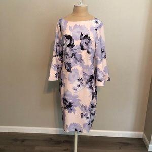 Floral long sleeve dress Calvin Klein NWT